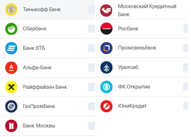 В каких банках можно снять деньги с карты Тинькофф без комиссии