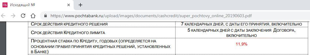 Подводные камни кредита наличными почта Банка реальная процентная ставка